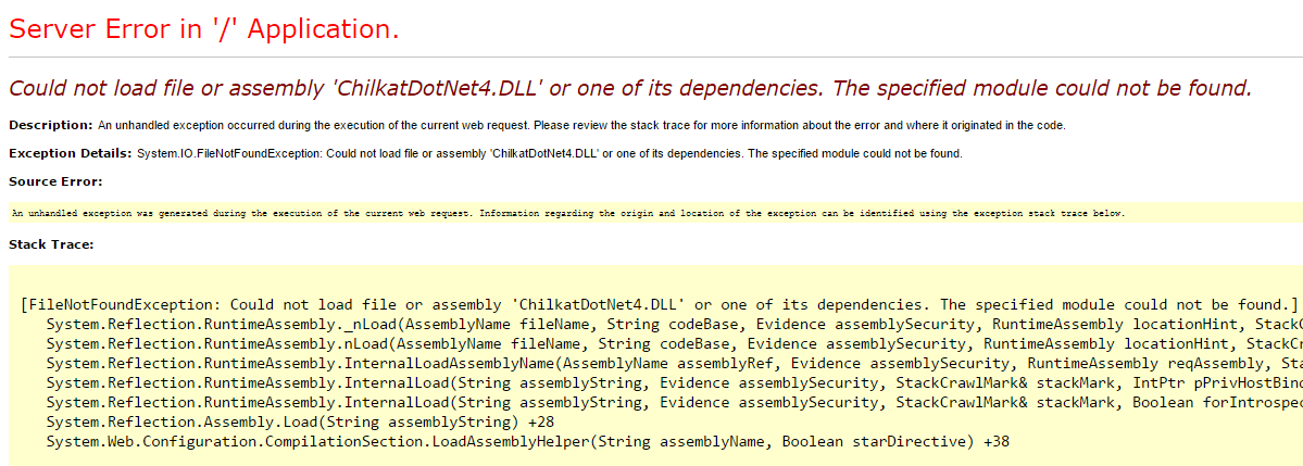 Download chilkatdotnet Dll
