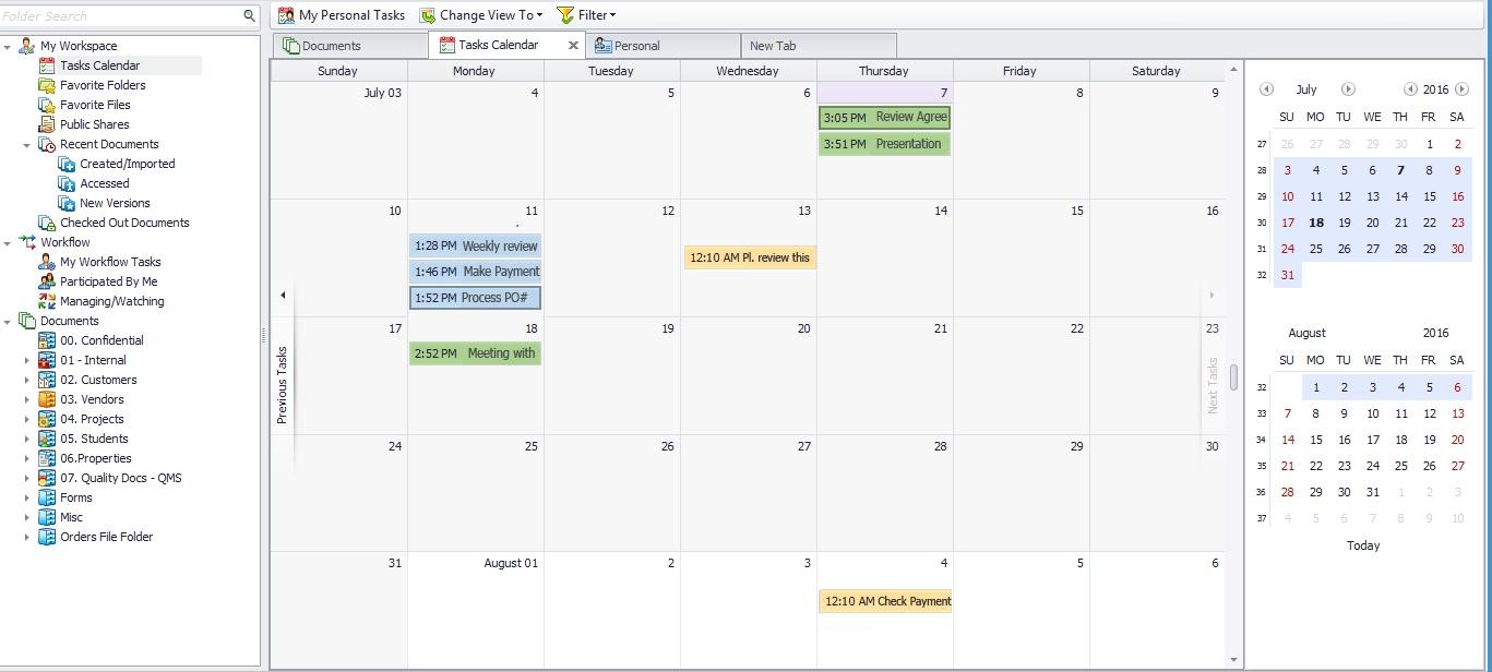 task calendar