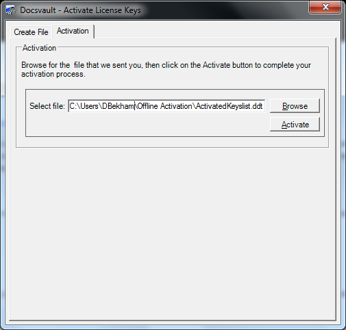 Register Activation Key
