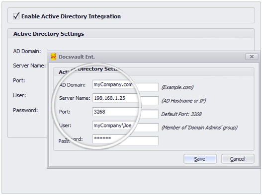 Active Directory Integration DMS