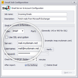 Email Capture Configuration