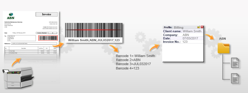 Barcode Reader Addon Docsvault Document Management Software - Barcode scanner invoice software